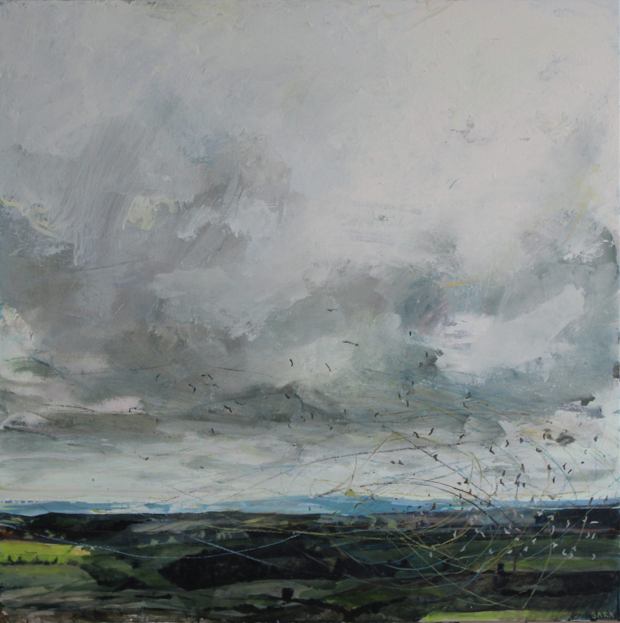 2018  95 x 95cms, oil on canvas